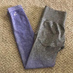 Gymshark gray ombré seamless leggings S